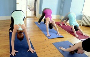 Whole Body Yoga Studio Class - Downward Dog Position